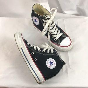 Converse All-Star sz5 black hidden wedge sneakers